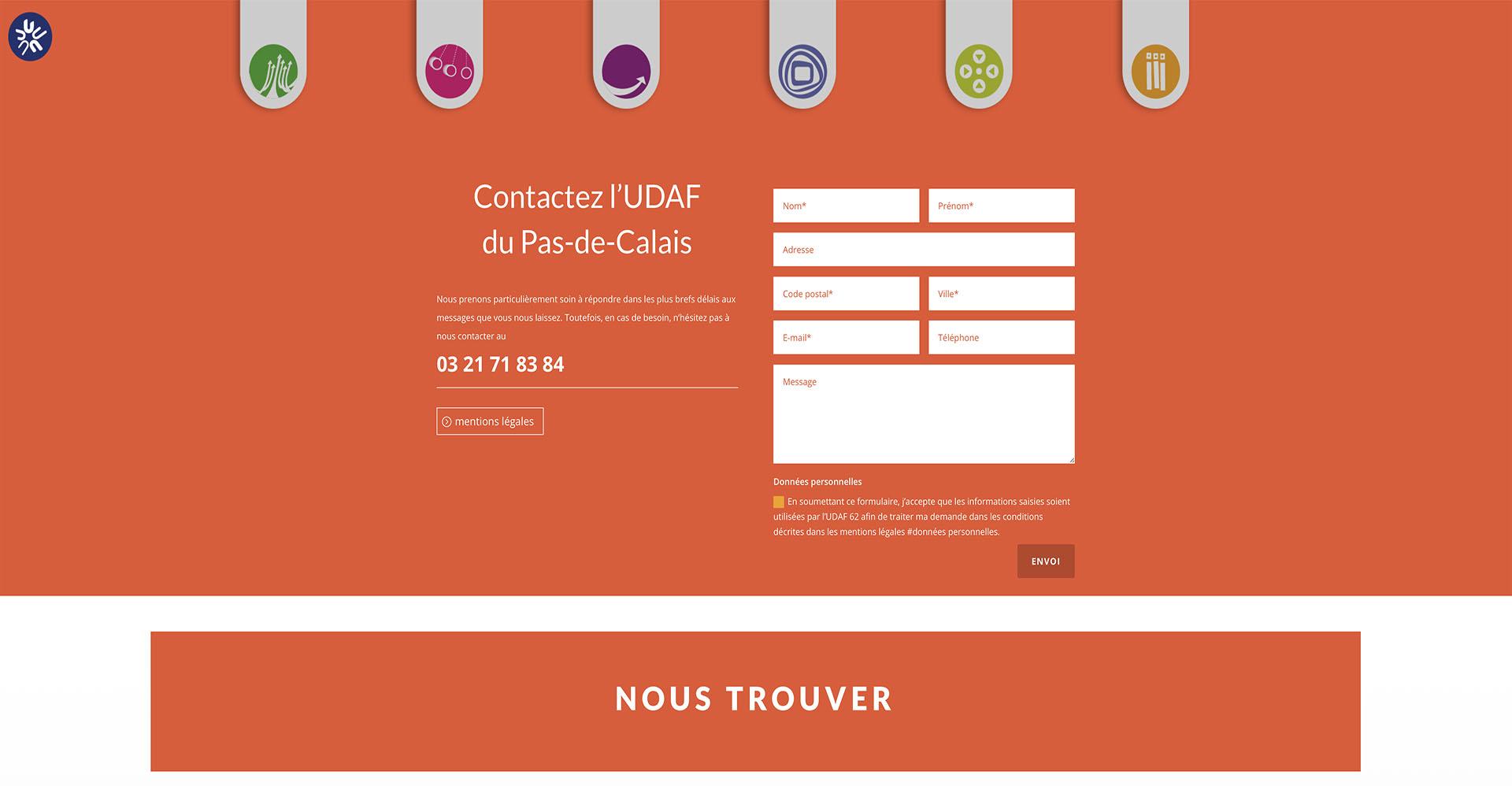 Page contact UDAF 62